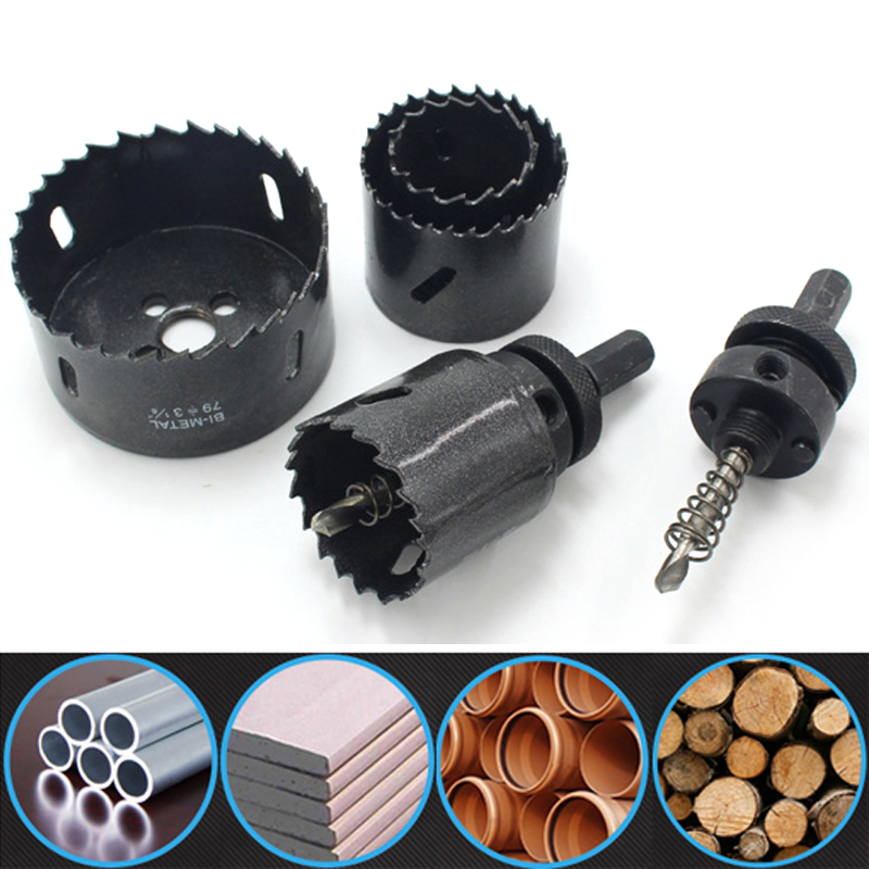 ZtDpLsd 1Pcs 38-114mm M42 Drilling Hole Saw Cutting Kit Opener Drill Bit Cutter Holesaw for Aluminum Iron Stainless Steel Plate 13pcs 16 53mm core drill bit holesaw metal cutter cutting used for stainless steel iron aluminum alloy metal hole saw hand tool