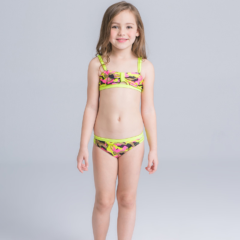 2018 Junior Girls Swimwear Bikini Set For Children Surfing Swimsuits Kids Tankini Bathing Suit Beachwear Girl Swimming Suit Kids