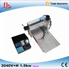 mini china cnc machine 3 axis  3040 1500w spindle For PCB/Woodworking metal