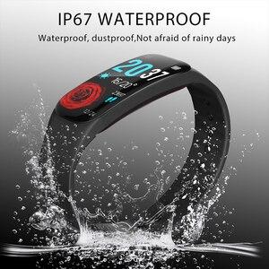 Image 4 - Smart Armband LUIK Vrouw Fitness Armband Bloeddruk Hartslagmeter Stappenteller Slimme Horloge Mannen passen aan Android en IOS