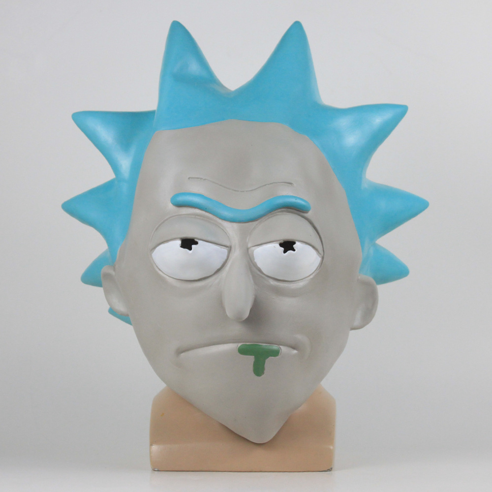 Rick and Morty professor surrounding latex masks wigs Halloween party Cos