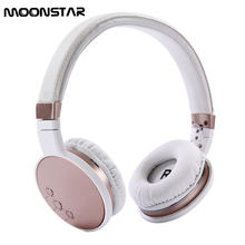 Cheaper MOONSTAR Hot pin Bluetooth4.1 Wireless Headphones Hifi microphone Super long standby Stereo headset for android IOS Computers