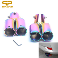 1Piece Car Styling Modified Exhaust Tail Muffler Stainless Steel Auto Double Dual Exhaust Tips Auro Accessories