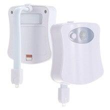 Motion sensor toilet seat LED light