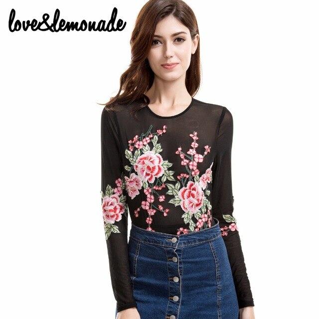 Любовь и Лимонад Сексуальная Цвет Цветы Вышитые Марли Боди ТБ 9558
