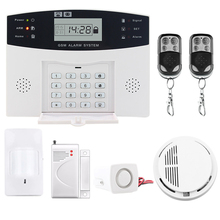 Saful LCD Display Wireless SMS Home Alarm system House intelligent auto Burglar Door Security Alarm Systems