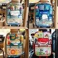 Милые сумки для хранения задних сидений автомобиля с мультяшным рисунком  подвесной органайзер для автомобиля  карманы для детских принадл...