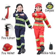 Kids Fireman Sam Costume Child Birthday Party Clothing Suit Halloween Cosplay Uniform For Girls Boy