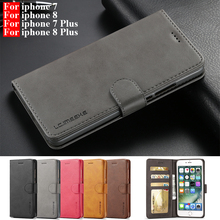 For iphone 7 Case Leather Vintage Phone Cases On iphone 8 Plus Cases Flip Wallet Case For Telefoon Hoesjes iphone 7 Plus Cover 8 cheap LC IMEEKE CN(Origin) Flip Case For iphone 7 8 iphone 7 Plus 8 Plus Case Apple iPhones Plain Heavy Duty Protection