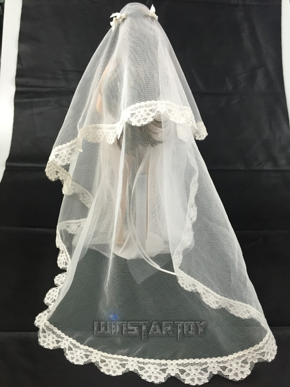 full hand made 1 6 Sexy lace wedding dress B version for Phicen Hot ... 32385a4cf853