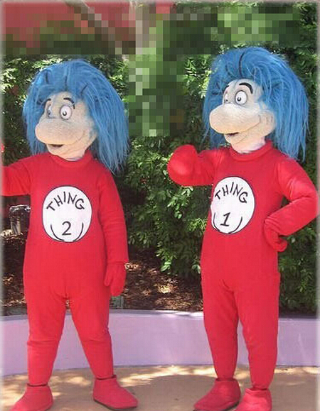 Adult Size THING 1   THING 2 Mascot Costume Holiday Costumes Fancy Dress  Halloween Party Free shipping b95244645