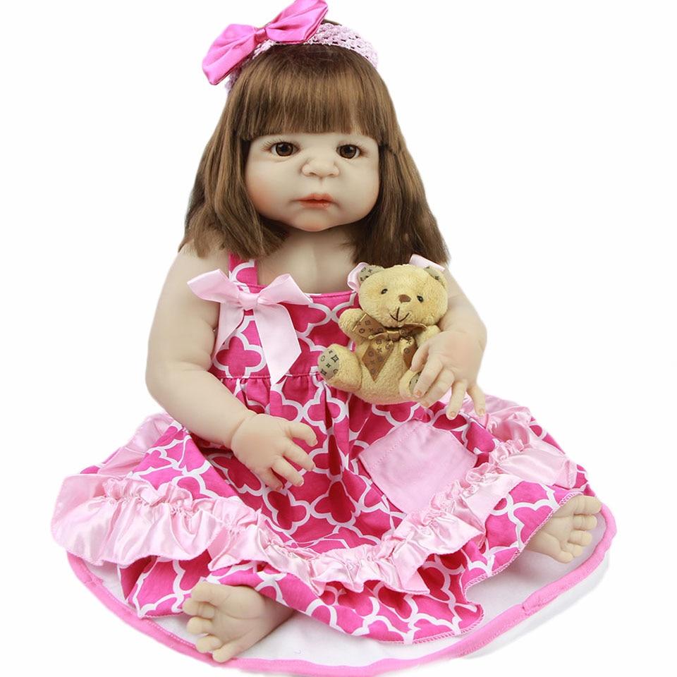 Fantasy 23 Silicone Reborn Baby Dolls Girl Real Life Princess Full body Vinyl Babies Doll 57
