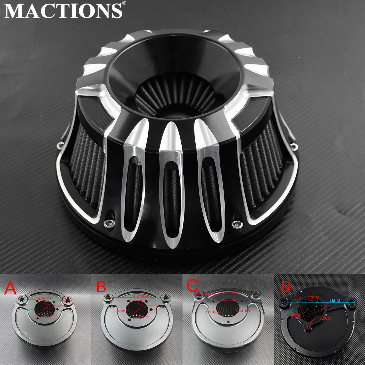 Motorcycle Air Filter Cleaner CNC Crafts Intake Filter For Harley XL Sportster 2004-Up Dyna FXDLS Softail FatBoy Touring FLHR