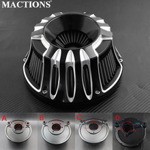 Motorcycle Air Filter Cleaner CNC Crafts Intake Filter For Harley XL Sportster 2004 Up Dyna FXDLS Softail FatBoy Touring FLHR