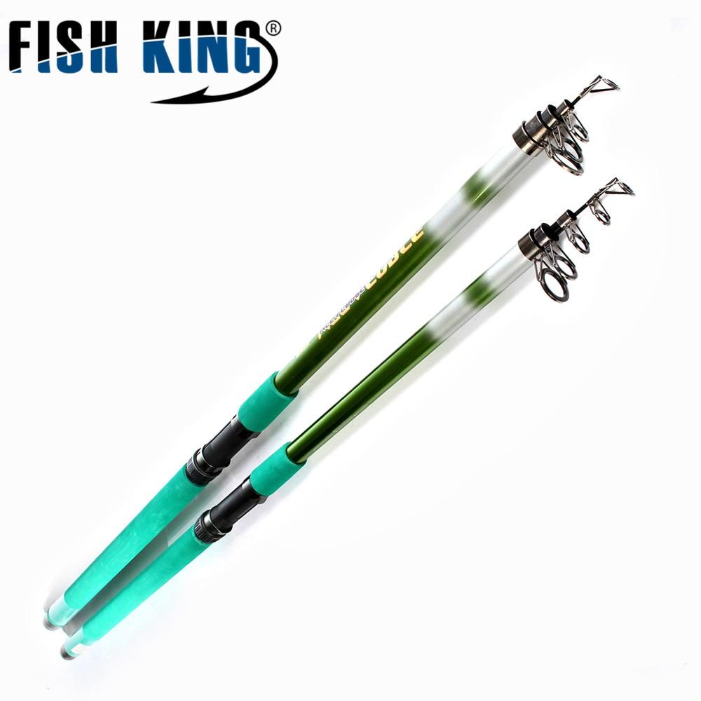 FISH KING Brand Fiber Glasses Fishing Rod 3.5M 3.9M 4.2M Fishing Pole Surf Casting Rod Spinning Boat Rock Fishing Rod Tackle