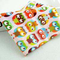 1 Meter Big Eye Pink Owl Printed Cotton Fabric For Baby Bedding Sheet Home Textile Sewing