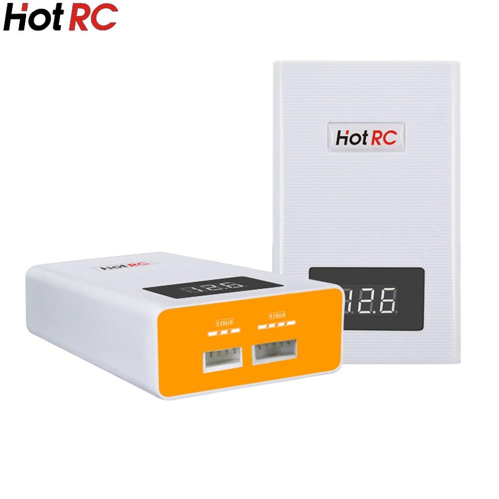 Hotrc A400 Digital 3 s 4S 3000 mAh RC Lipo batería equilibrio cargador con pantalla LED carga rápida descargador para RC Quadcopter