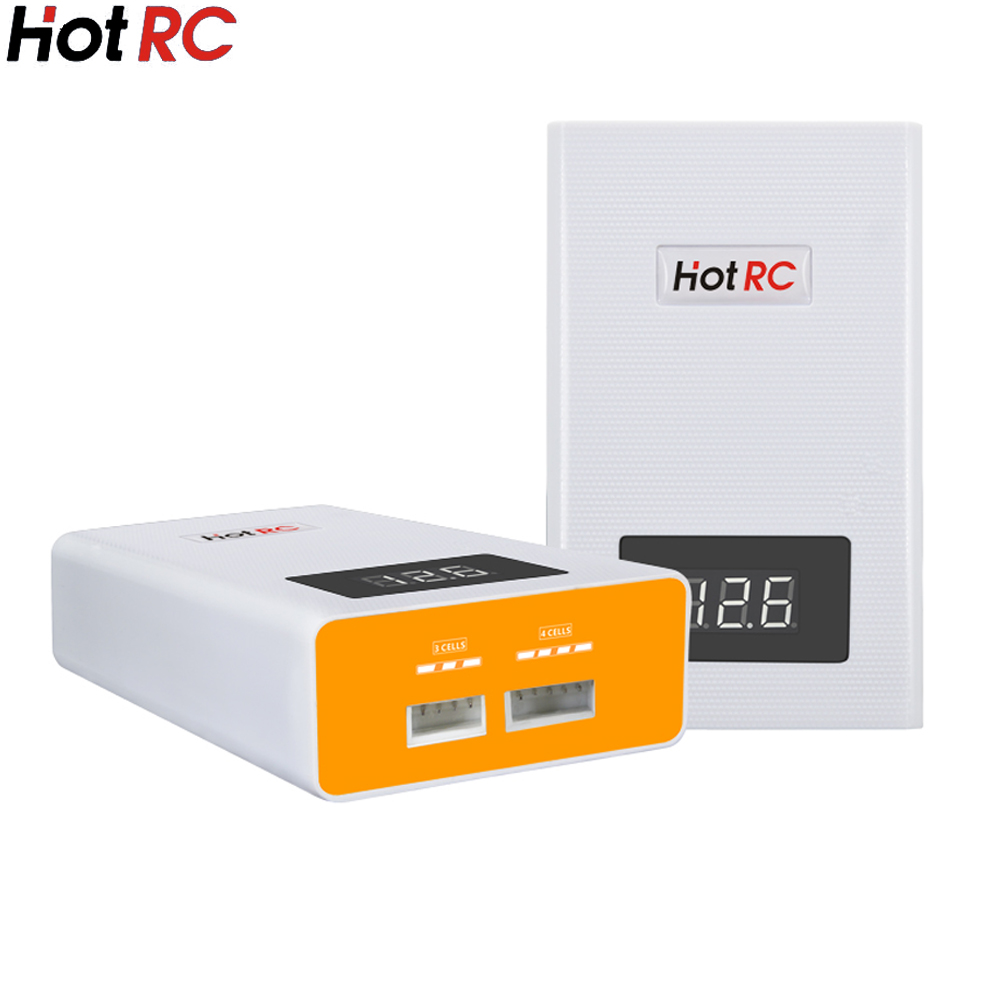 New Hotrc A400 Digital 3S 4S 3000mah RC Lipo Battery Balance Charger with LED Screen Fast Charge Discharger for RC Quadcopter