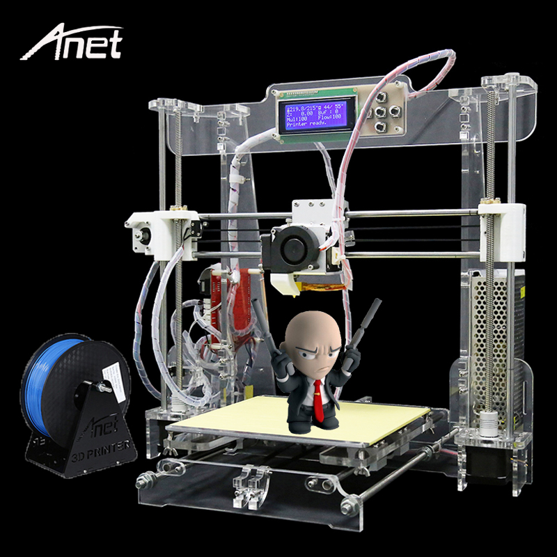 2017Anet A8 3D Printer Desktop High Precision Reprap Prusa I3 FDM DIY 3D Printer Kit Aluminum Hotbed+Filament+SD Card+Tools  high precision reprap prusa i3 3d printer diy kit bowden extruder easy leveling acrylic lcd free shipping sd card filament tool