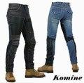 Frete grátis KOMINE PK719 motocicleta verão homem mulheres calças jeans casuais respirável automóvel Com 4 Protetor Pad S-3XL