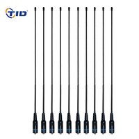 10pcs TID NA771 VHF/UHF 144 430MHz SMA Female Antenna for Walkie Talkie Baofeng uv 5r uv 82 bf 888s CB Radio
