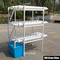 108 Holes Soilless Hydroponic Grow Kit Water Culture Pipe Set Garden Balcony Vegetable Cultivation Growing Planting System NFT