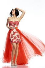 Eye-Catching Off the Shoulder Appliques Sequined Dress with Tulle Skirt Crystal Beading Sashes High to Low Dresses TT Watches