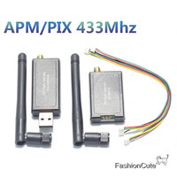 Single TTL 3DRobotics Telemetry Kit 433Mhz For APM2 5 2 6 2 8 Flight Controller For