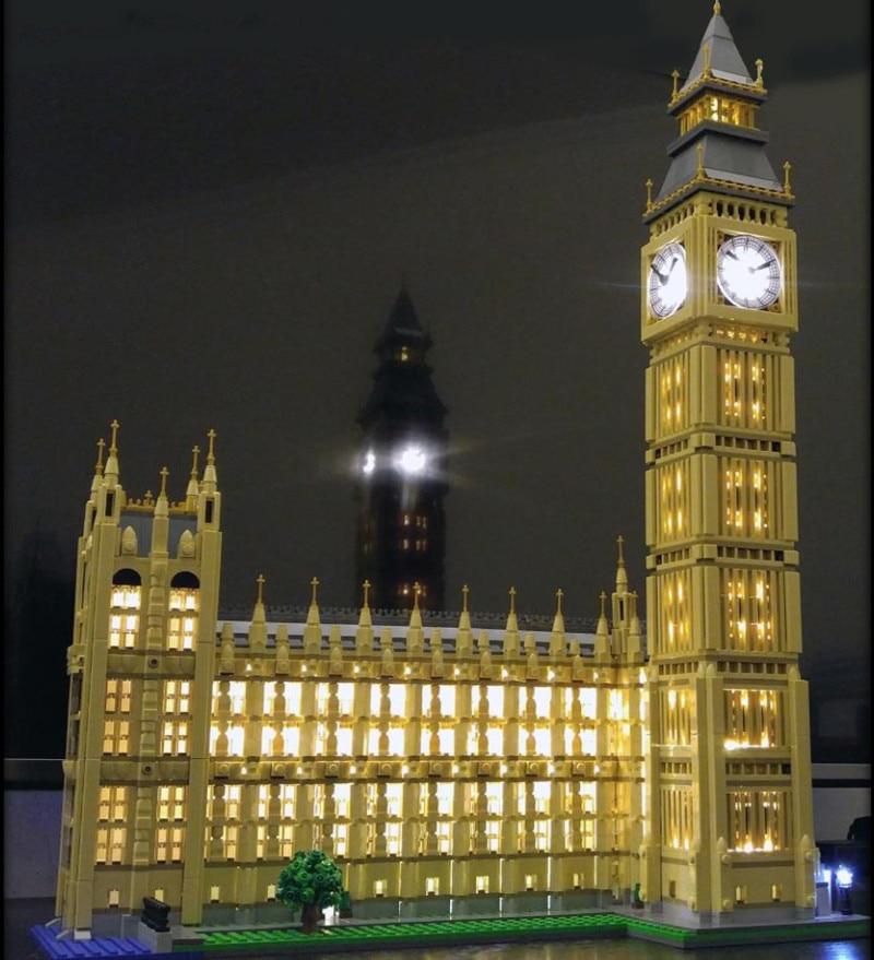 LED Kit Luce (solo la luce inclusa) per lego 10253/17005 Città Creator Big Ben Modello Kit di Costruzione di Blocchi di Mattoni