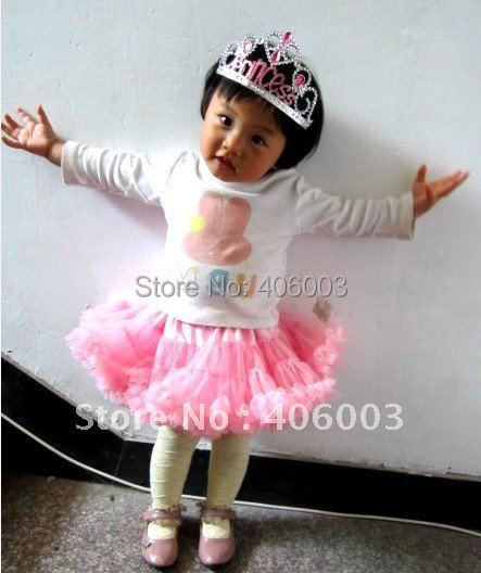 Promotion Free shipping wholesale pink fluffy baby  pettiskirt