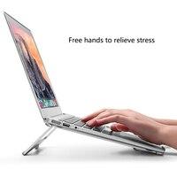 Складной алюминиевый ноутбук противоскользящая охлаждающая подставка держатель крышек для Apple MacBook Mac Book lenovo samsung компьютер
