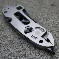 Adjustable Wrench Jaw Screwdriver Pliers Knife Multi Tool Set Survival Gear SS