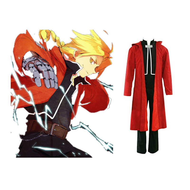 Fullmetal Alchemist Cosplay Edward Elric Cosplay Costume Uniform Outfit Anime Cosplay Costume Halloween Carnival Cosplay Costume
