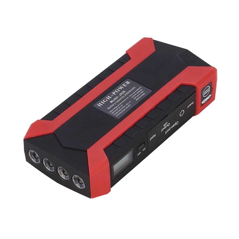 12 V batterie de voiture batterie externe démarrage dispositif Booster d'urgence Portable voiture saut démarreur chargeur d'urgence