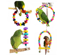 Pet Bird Parrot Macaw Cage House Toys Large Swing Bodacious Bites Chew Wooden Toys For Parrots