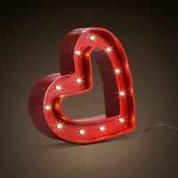 Лофт промышленного ветер красный любовь настольные лампы ресторан бар магазин одежды украшения led смолы гладить Романтическая свадьба све