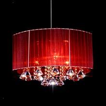 Современный простой модный овальный светодиодный светильник для гостиной, потолочный светильник s Матовый тканевый абажур k9 crystal luminaria