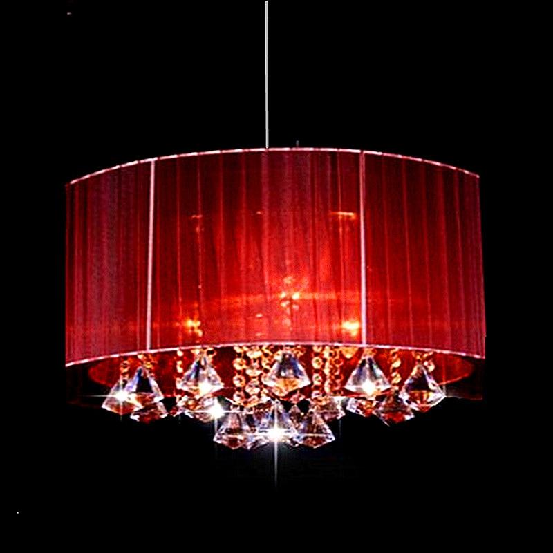 Модерна просто мода овална дневна стая доведе блясък светлина таван светлини четка тъкан абажур k9 кристал luminaria
