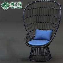 Outdoor sofa creative soft dress rattan single sofa balcony leisure chair garden garden wicker chair sofa 4085 single modern minimalist creative small sofa nap bed deck chair inflatable sofa chair