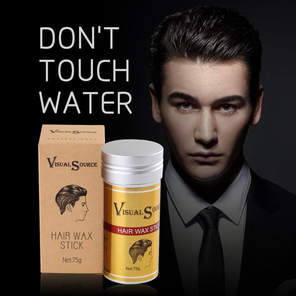 Men Women Hair Styling Pomade Stick Rapid Fixed Repair Fashion Hair Modeling Natural Not Oily Hair Wax Hair Finishing Hot Sales серум за растеж на мигли