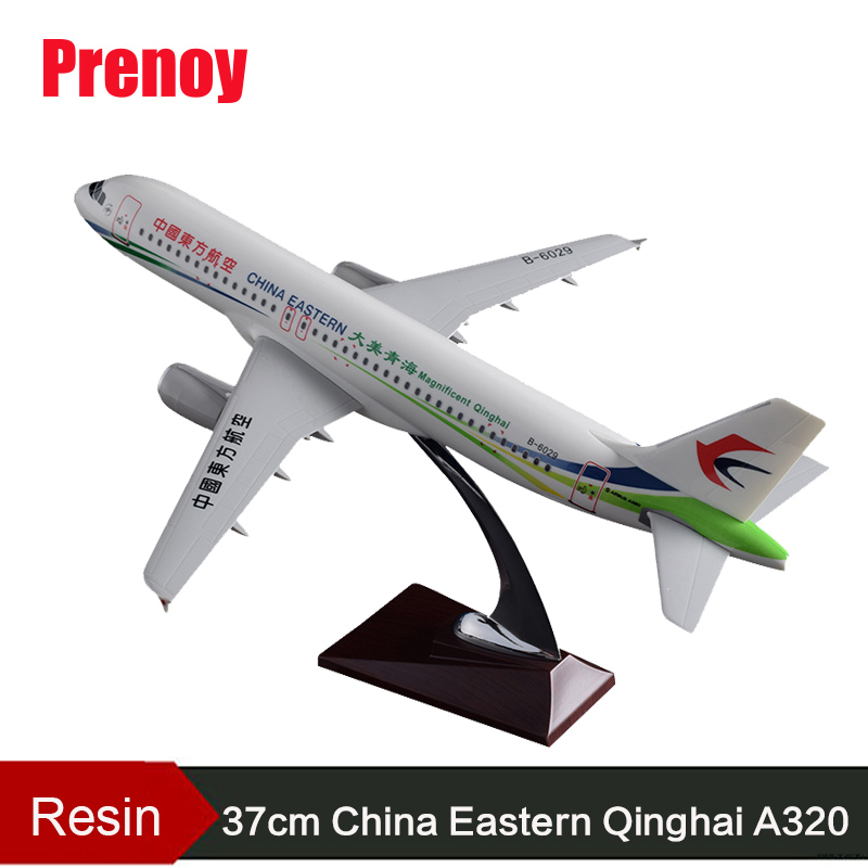 37cm Resin Plane Model A320 Airplane Model China Eastern Airlines Aircraft Model China Eastern Qinghai Airways Aviation Model phoenix 10596 a330 200 b 6538 chinese eastern airlines skyteam no 1 400 commercial jetliners plane model hobby