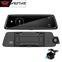 Anstar 4G Видеорегистраторы для автомобилей 10 ''регистратор зеркало заднего вида автомобиля Камера 3g gps навигации Двойной объектив Android 1080 P реги