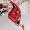 Universal de Lujo de la Marca de La Muchacha de Maquillaje Espejo Portable de la Energía Bank 8800 mAh Cargador de Batería Externa de Polímero Para iPhone7/teléfono móvil