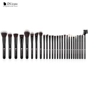 Image 3 - DUcare 27PCS Professional Makeup Brushes Set Powder Foundation Eyeshadow Make Up Brushes Soft Synthetic Hair Goat Hair Brushes