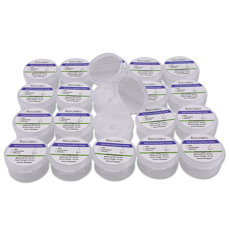 75 boîtes = 300 pièces de ronflement aide au sommeil pinces à nez Mini Silicone dispositif Anti-ronflement arrêter ronflement apnée dilatateurs nasaux