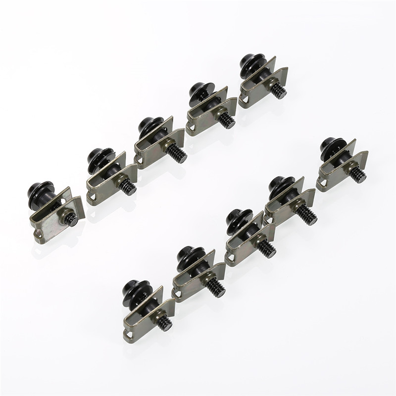 10PCS Aluminium Motorcycle M5 5mm Fairing Bolts Fastener Clips Screw Spring Nuts Auto Motos Bikes Car Accessories Metal Clips