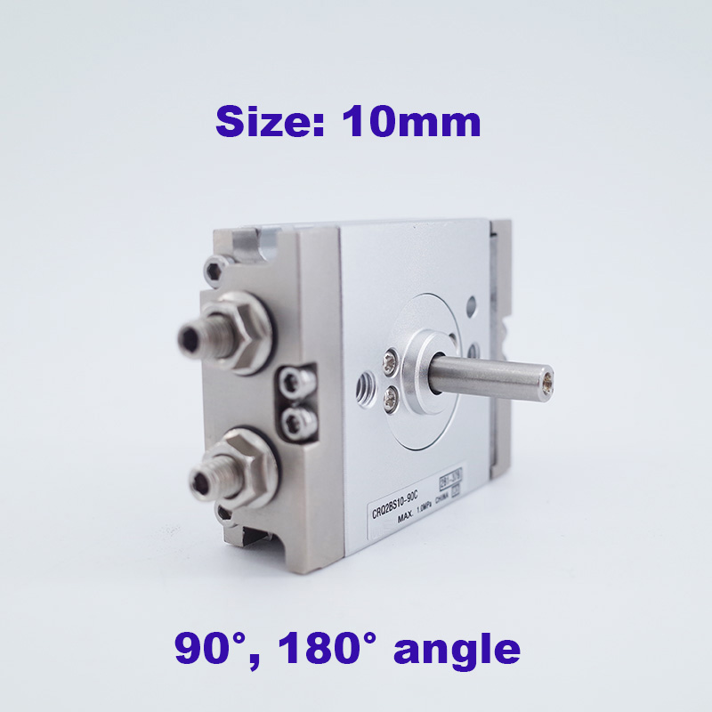 Compact rotary cylinder rack pinion smc type size 10mm CRQ2BS CDRQ2BS 90 180 degree with air