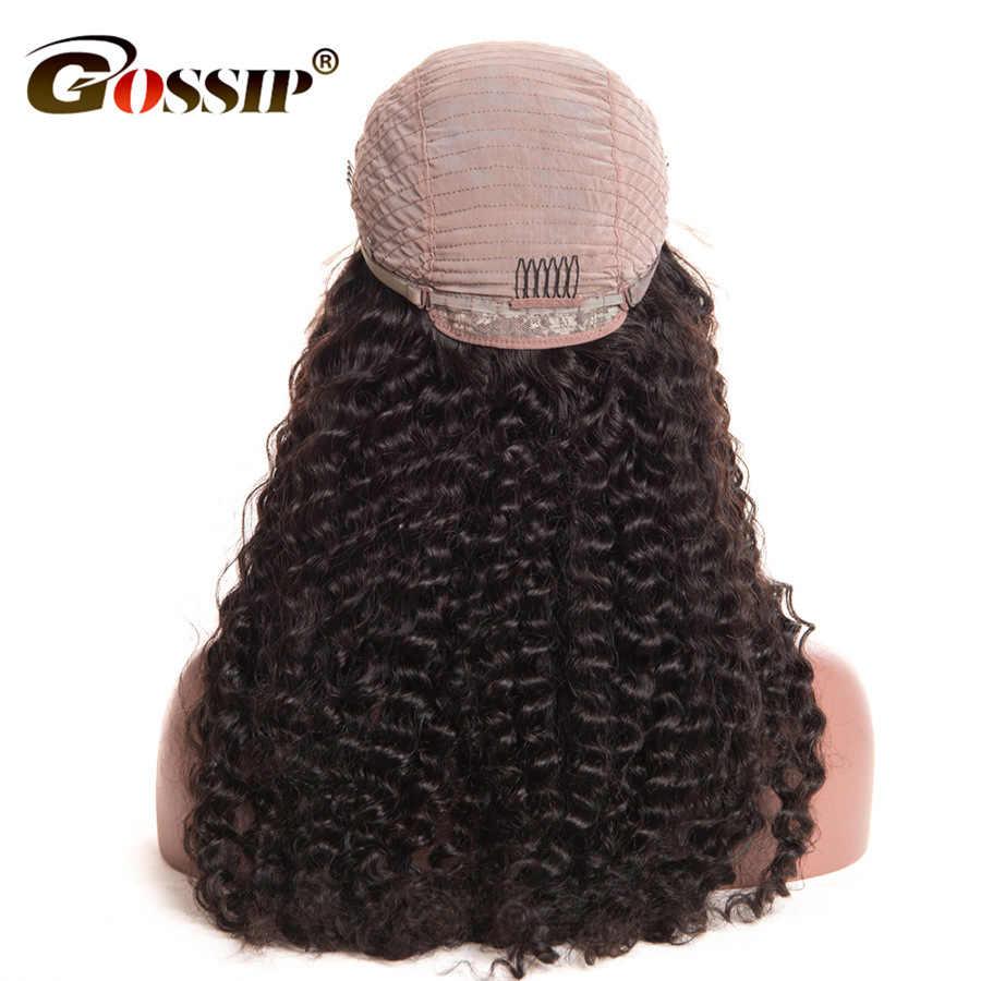 """Peluca Frontal de encaje de 360 Pelo Rizado de chismes Pre desplumado con pelucas de cabello humano Remy para mujeres negras peluca frontal de encaje de 6"""""""