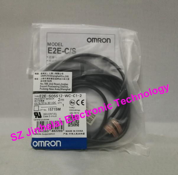 100% New and original OMRON Proximity switch, Proximity sensor E2E-S05S12-WC-C1-2   2M [zob] new original omron shanghai omron proximity switch e2e x18me1 2m 2pcs lot