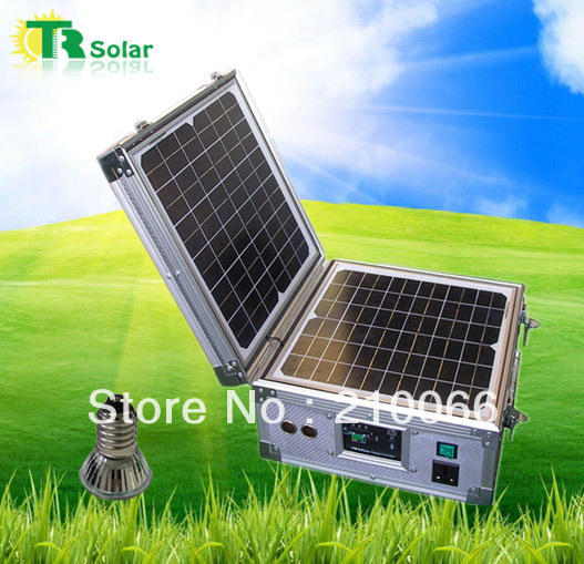 Solar foldable system 30w portable solar powered system outdoor indoor led lgiht system high effeciency fast mobile car charger